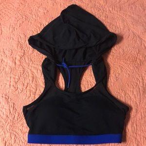 Fabletics Black Hooded Sports Bra